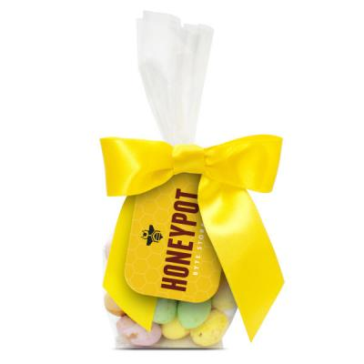 Image of Fully Colour Printed Easter Swing Tag Bag Filled With Chocolate Eggs