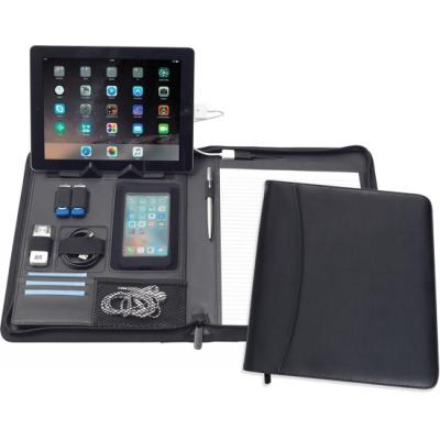 Image of Promotional Pembury' Tecfolio, Portfolio With integral Powerbank And Charging Cable