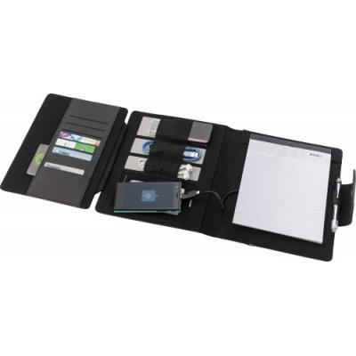 Image of Promotional A5 Document Portfolio Folder With Integrated 5000mAh Power Bank