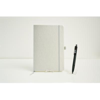 Image of Promotional Dimes A5 Notebook, Printed Low Cost Notebook Silver