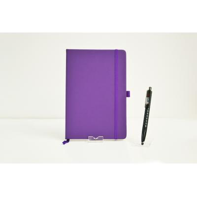 Image of Promotional Dimes A5 Notebook, Printed Budget PU Notebook Purple