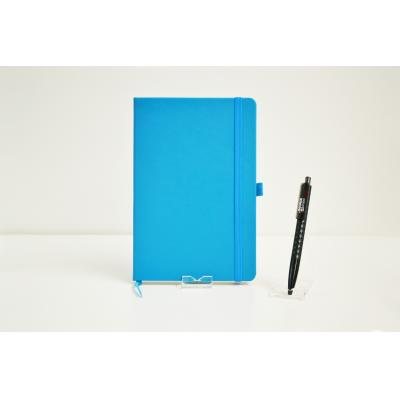 Image of Promotional Dimes A5 Notebook, Embossed Budget PU Notebook Teal