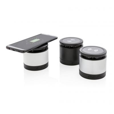 Image of Promotional Wireless Mobile Phone Charger With Integrated Bluetooth Speaker
