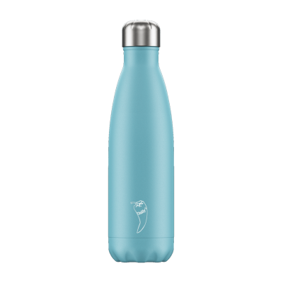 Image of Promotional Chilly's Bottles Pastel Blue 500ml. Reusable Refill Bottle