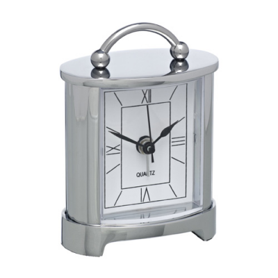 Image of Promotional Sandringham Carriage Clock, Engraved Traditional Clock