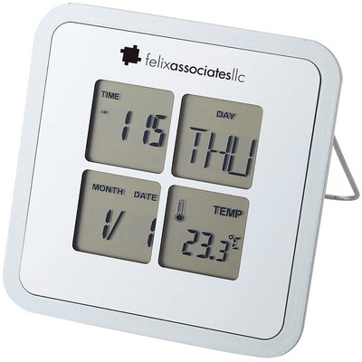 Image of Printed Livorno Desk Weather Clock With Alarm