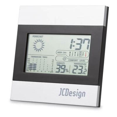 Image of Printed Desk Clock With Weather station. Express Service Available