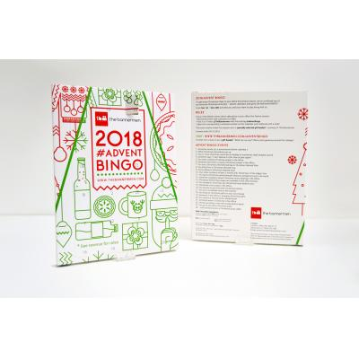 Image of Printed Traditional Advent Calendar Personalised Advent Calendars Made In The UK