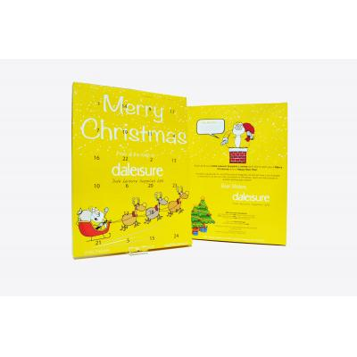 Image of Branded Traditional Advent Calendar Christmas Chocolate Advent Calendar Made In The UK