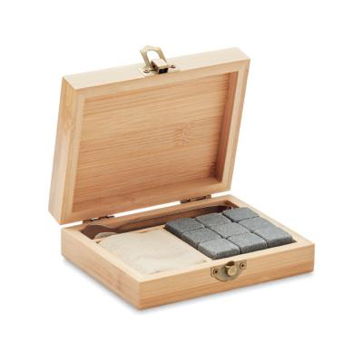 Image of Promotional Whiskey Stones Set In Bamboo Gift Box